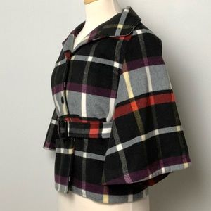 Marc by Marc Jacobs Belted Wool Plaid Jacket S